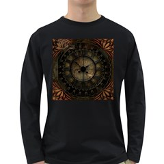 Steampunk, Wonderful Noble Steampunnk Design Long Sleeve Dark T Shirts
