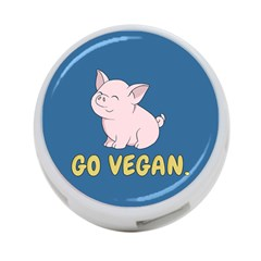 Go Vegan   Cute Pig 4 Port Usb Hub (two Sides)  by Valentinaart