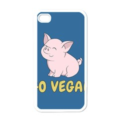 Go Vegan   Cute Pig Apple Iphone 4 Case (white) by Valentinaart