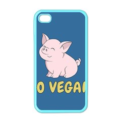 Go Vegan   Cute Pig Apple Iphone 4 Case (color) by Valentinaart