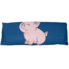 Go Vegan   Cute Pig Body Pillow Case (dakimakura) by Valentinaart