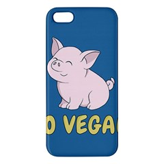 Go Vegan   Cute Pig Iphone 5s/ Se Premium Hardshell Case by Valentinaart