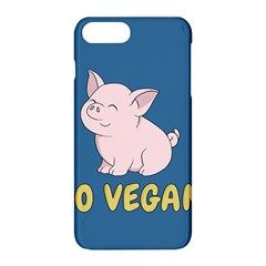 Go Vegan   Cute Pig Apple Iphone 8 Plus Hardshell Case by Valentinaart