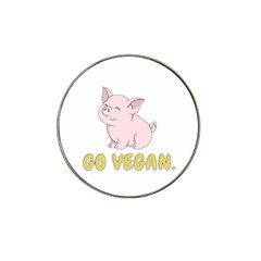 Go Vegan   Cute Pig Hat Clip Ball Marker (4 Pack) by Valentinaart