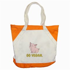 Go Vegan   Cute Pig Accent Tote Bag by Valentinaart
