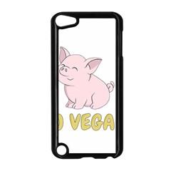 Go Vegan   Cute Pig Apple Ipod Touch 5 Case (black) by Valentinaart