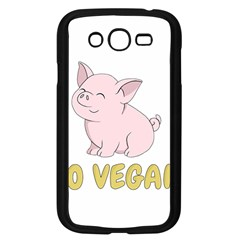 Go Vegan   Cute Pig Samsung Galaxy Grand Duos I9082 Case (black) by Valentinaart