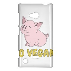 Go Vegan   Cute Pig Nokia Lumia 720 by Valentinaart