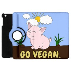 Go Vegan   Cute Pig Apple Ipad Mini Flip 360 Case by Valentinaart