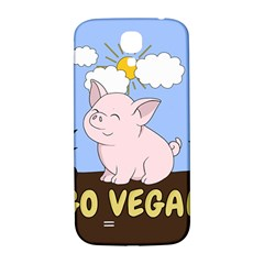 Go Vegan   Cute Pig Samsung Galaxy S4 I9500/i9505  Hardshell Back Case by Valentinaart