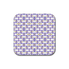 Decorative Ornate Pattern Rubber Coaster (square)  by dflcprints