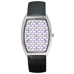 Decorative Ornate Pattern Barrel Style Metal Watch by dflcprints