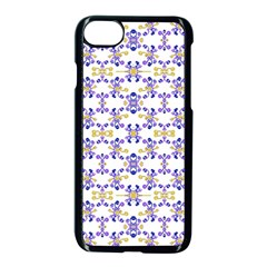 Decorative Ornate Pattern Apple Iphone 7 Seamless Case (black) by dflcprints