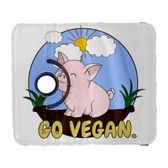Go Vegan   Cute Pig Galaxy S3 (flip/folio) by Valentinaart