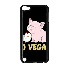 Go Vegan   Cute Pig And Chicken Apple Ipod Touch 5 Case (black) by Valentinaart