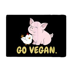 Go Vegan   Cute Pig And Chicken Ipad Mini 2 Flip Cases by Valentinaart