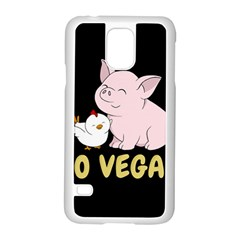 Go Vegan   Cute Pig And Chicken Samsung Galaxy S5 Case (white) by Valentinaart