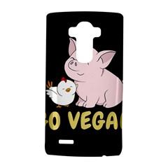 Go Vegan   Cute Pig And Chicken Lg G4 Hardshell Case by Valentinaart