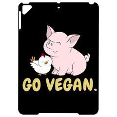 Go Vegan   Cute Pig And Chicken Apple Ipad Pro 9 7   Hardshell Case by Valentinaart