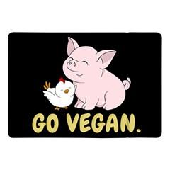 Go Vegan   Cute Pig And Chicken Apple Ipad Pro 10 5   Flip Case by Valentinaart