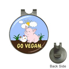 Go Vegan   Cute Pig And Chicken Hat Clips With Golf Markers by Valentinaart