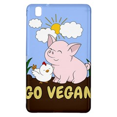 Go Vegan   Cute Pig And Chicken Samsung Galaxy Tab Pro 8 4 Hardshell Case by Valentinaart