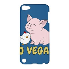 Go Vegan   Cute Pig And Chicken Apple Ipod Touch 5 Hardshell Case by Valentinaart