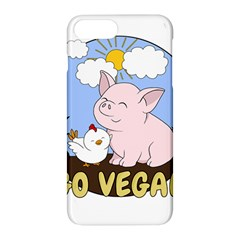 Go Vegan   Cute Pig And Chicken Apple Iphone 7 Plus Hardshell Case by Valentinaart