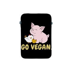 Go Vegan   Cute Pig And Chicken Apple Ipad Mini Protective Soft Cases by Valentinaart