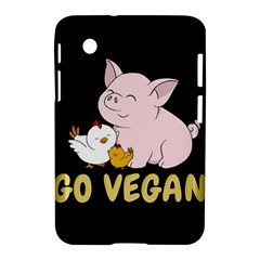 Go Vegan   Cute Pig And Chicken Samsung Galaxy Tab 2 (7 ) P3100 Hardshell Case  by Valentinaart