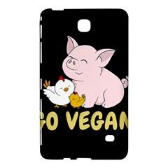 Go Vegan   Cute Pig And Chicken Samsung Galaxy Tab 4 (8 ) Hardshell Case  by Valentinaart