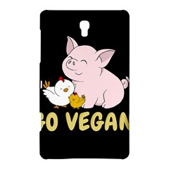 Go Vegan   Cute Pig And Chicken Samsung Galaxy Tab S (8 4 ) Hardshell Case  by Valentinaart