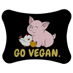 Go Vegan   Cute Pig And Chicken Jigsaw Puzzle Photo Stand (bow) by Valentinaart