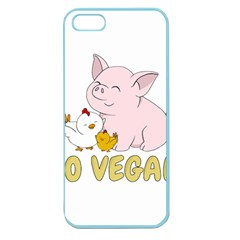 Go Vegan   Cute Pig And Chicken Apple Seamless Iphone 5 Case (color) by Valentinaart