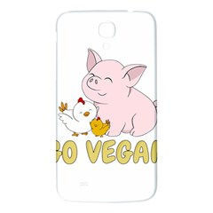 Go Vegan   Cute Pig And Chicken Samsung Galaxy Mega I9200 Hardshell Back Case by Valentinaart