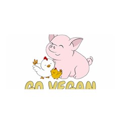 Go Vegan   Cute Pig And Chicken Satin Wrap by Valentinaart