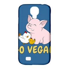 Go Vegan   Cute Pig And Chicken Samsung Galaxy S4 Classic Hardshell Case (pc+silicone) by Valentinaart
