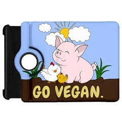 Go Vegan   Cute Pig And Chicken Kindle Fire Hd 7  by Valentinaart
