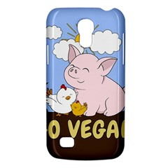 Go Vegan   Cute Pig And Chicken Galaxy S4 Mini by Valentinaart