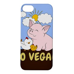 Go Vegan   Cute Pig And Chicken Apple Iphone 5s/ Se Hardshell Case by Valentinaart
