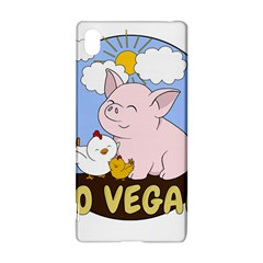 Go Vegan   Cute Pig And Chicken Sony Xperia Z3+ by Valentinaart