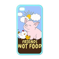 Friends Not Food   Cute Pig And Chicken Apple Iphone 4 Case (color) by Valentinaart