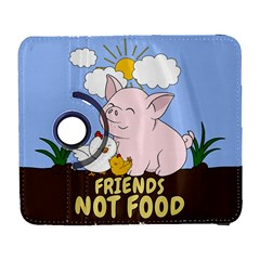 Friends Not Food   Cute Pig And Chicken Galaxy S3 (flip/folio) by Valentinaart