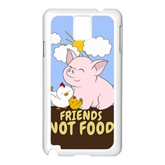 Friends Not Food   Cute Pig And Chicken Samsung Galaxy Note 3 N9005 Case (white) by Valentinaart