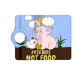 Friends Not Food   Cute Pig And Chicken Kindle Fire Hd (2013) Flip 360 Case by Valentinaart