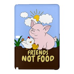 Friends Not Food   Cute Pig And Chicken Samsung Galaxy Tab Pro 12 2 Hardshell Case by Valentinaart