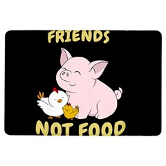 Friends Not Food   Cute Pig And Chicken Ipad Air Flip by Valentinaart