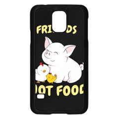Friends Not Food   Cute Pig And Chicken Samsung Galaxy S5 Case (black) by Valentinaart