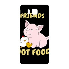Friends Not Food   Cute Pig And Chicken Samsung Galaxy Alpha Hardshell Back Case by Valentinaart