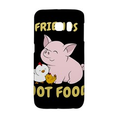 Friends Not Food   Cute Pig And Chicken Galaxy S6 Edge by Valentinaart